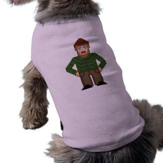 ¡Hombre del pixel! Camiseta De Perrito