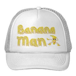 Hombre del plátano gorros bordados