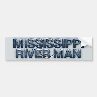 Hombre del río Misisipi de la CAMISETA Etiqueta De Parachoque