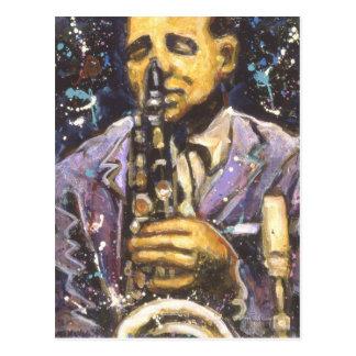 Hombre del saxofón II Postal