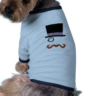 Hombre del sombrero de copa camisas de mascota