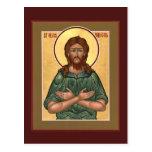 Hombre del St. Alexis de tarjeta del rezo de dios Tarjetas Postales