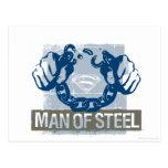 Hombre del superhombre de acero postal