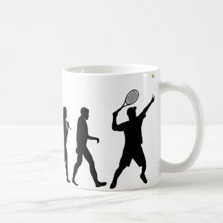 Hombre del tenis tazas