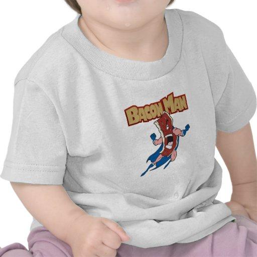 Hombre del tocino camisetas