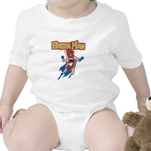Hombre del tocino traje de bebé