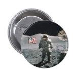 Hombre del último de Apolo 17 en la luna Pin Redondo 5 Cm