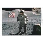 Hombre del último de Apolo 17 en la tarjeta de not