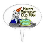 Hombre del Web de araña del feliz cumpleaños viejo Palillos De Tarta