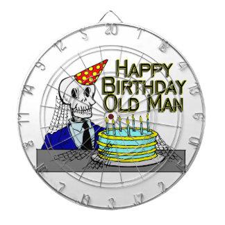 Hombre del Web de araña del feliz cumpleaños viejo