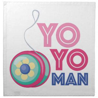 Hombre del yoyo servilleta