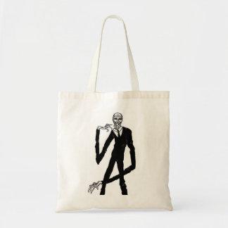 Hombre delgado bolsa tela barata