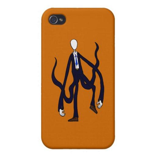 Hombre delgado - libro de los monstruos Halloween iPhone 4 Fundas