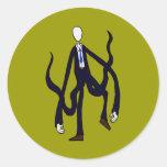 Hombre delgado - libro de los monstruos Halloween Etiqueta