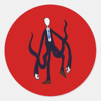 Hombre delgado - libro de los monstruos Halloween Pegatina Redonda
