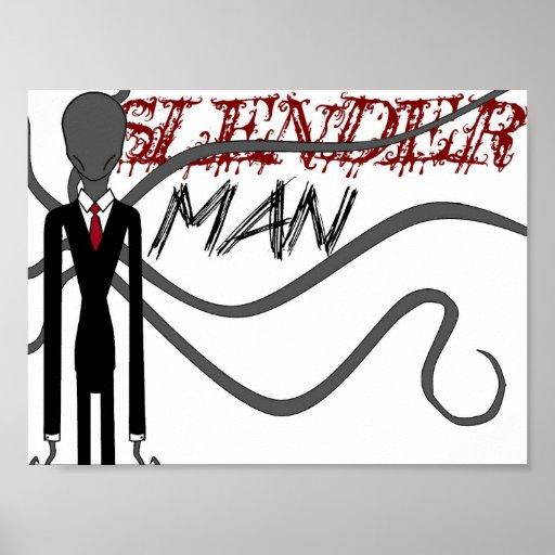 Hombre delgado póster