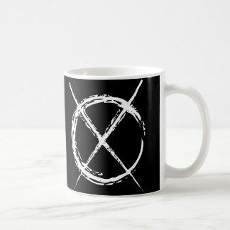 Hombre delgado taza de café