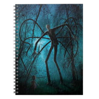 Hombre delgado y el alma perdida spiral notebooks