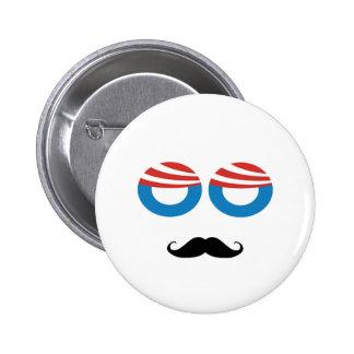 Hombre Democratic - bigote usted una pregunta Pin