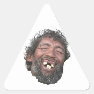 Hombre dentudo pegatinas de trianguladas