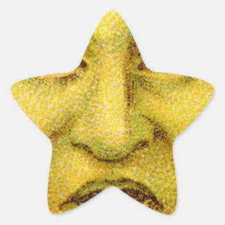 Hombre divertido extraño de la luna del vintage colcomanias forma de estrella
