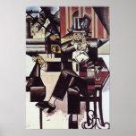 Hombre en el café, por Juan Gris Posters