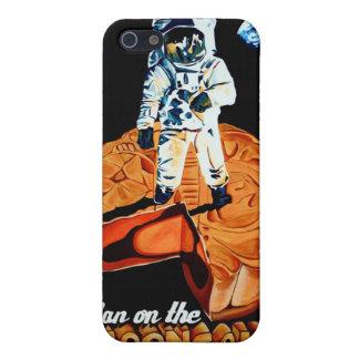 Hombre en el icover del Mooncake iPhone 5 Protectores