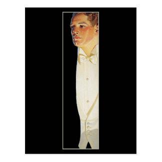 Hombre en el lazo blanco por Leyendecker