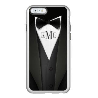 Hombre en el smoking negro - monograma elegante funda para iPhone 6 plus incipio feather shine