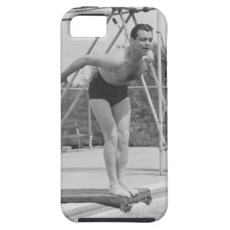 Hombre en el tablero de salto funda para iPhone SE/5/5s