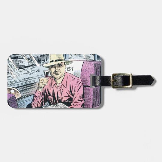 Hombre en etiqueta personalizada del equipaje de S