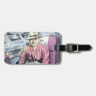 Hombre en etiqueta personalizada del equipaje de S Etiquetas Para Maletas