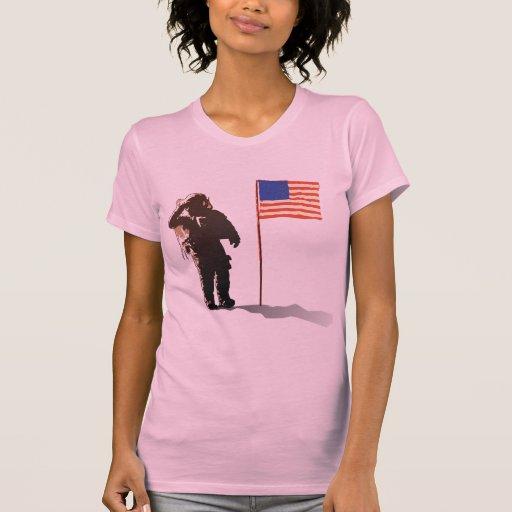 Hombre en la luna - astronauta camisetas