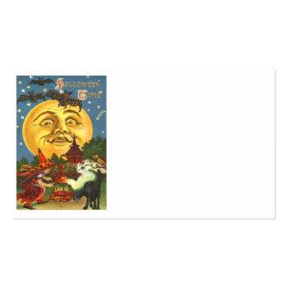 Hombre en la Luna Llena del palo de la bruja del g Tarjeta De Visita