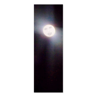 Hombre en la luna, mini señales tarjetas de visita mini