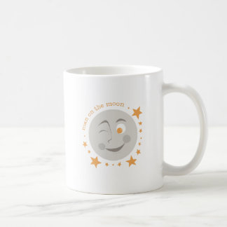 Hombre en la luna taza de café