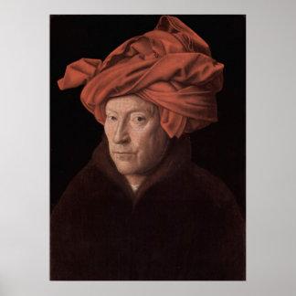 Hombre en un poster del turbante