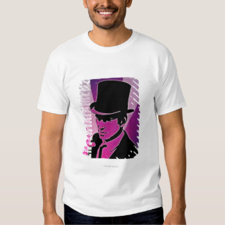 Hombre en un sombrero de copa remeras