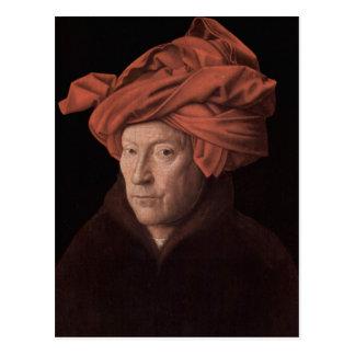 Hombre en un turbante tarjetas postales