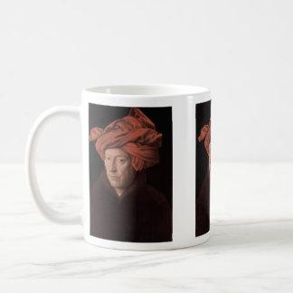 Hombre en un turbante taza básica blanca