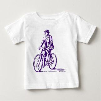 Hombre en una bici - Deep Purple Playera De Bebé