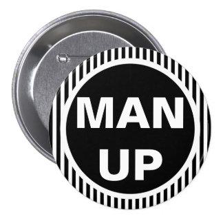 Hombre encima del botón redondo pin redondo de 3 pulgadas