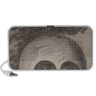 Hombre enmascarado en las islas de bocadillo iPod altavoz