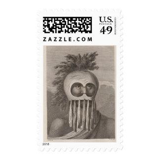 Hombre enmascarado en las islas de bocadillo sellos