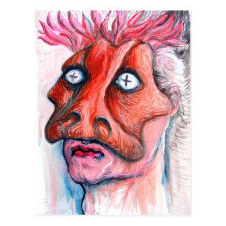 Hombre enmascarado tarjeta postal