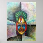Hombre enmascarado tribal poster