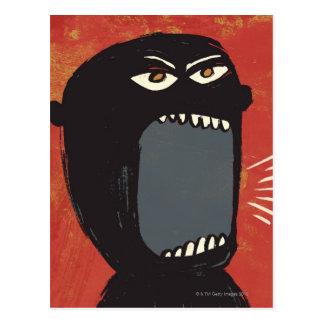 Hombre enojado sucio postales