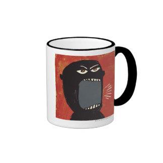 Hombre enojado sucio tazas de café