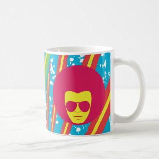 Hombre enrrollado del disco del alma del ~ del mie tazas de café