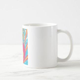 Hombre enrrollado del disco del alma del ~ del mie taza de café